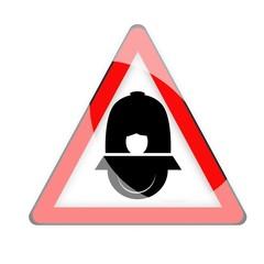 segnale di pericolo vigili