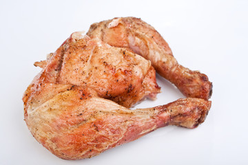 two roasted chicken legs