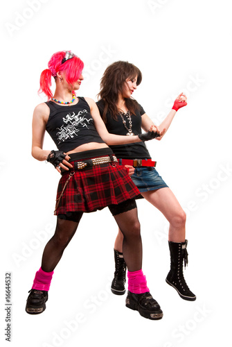 Two punk girls