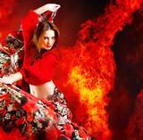 Tancerka gorąca kobieta