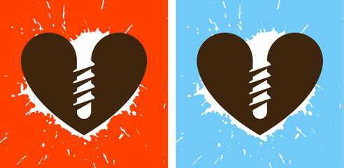 screwed heart