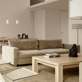 Beige minimalist contemporary interior