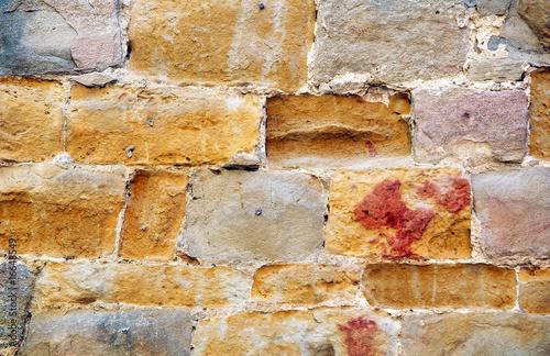 Fototapeten,gelb,vermauert,antikes,alt