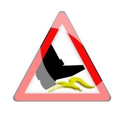 segnale di pericolo buccia di banana