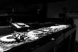 Quadro dj, console, musica