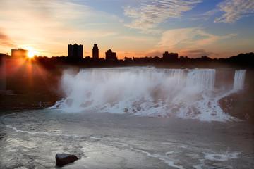 Niagara Falls USA at Sunrise