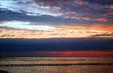 sunset over the baltic sea, germany poster