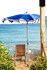 Ombrellone in spiaggia