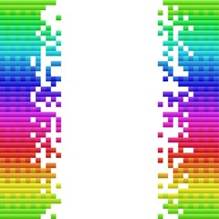 Abstract Pixel Background Vector, Easily Editable.