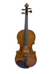 Violin on the white background