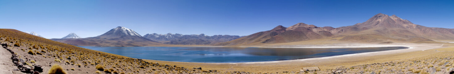 Lagunas Miscanti and Meniques in Atacama desert near Andes.