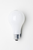 Traditional Light bulb on white background