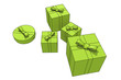 isolated gift boxes - 3d illustration on white