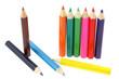 des crayons de couleur