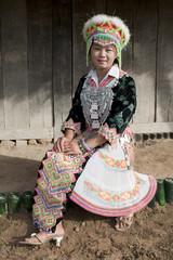 Portrait asiatische Frau von Laos, Hmong