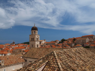 View of monastery of St. Francisk in Dubrovnik, Croatia