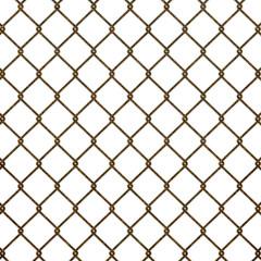 錆びついた金網