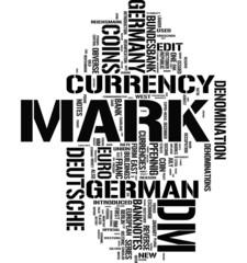 Deutsche Mark tag cloud