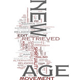 Newage word cloud poster