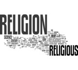 Religion tag cloud poster