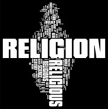 Religion word cloud poster