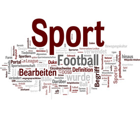 Sport deutsch tags cloud