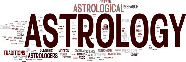 Astrology tag cloud