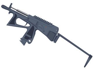 Pistol - a machine gun