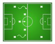 Illustration football game. Teamwork strategy