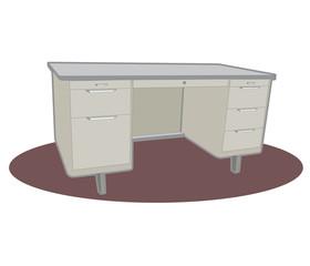 Classic Metal Desk