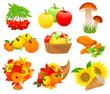 Autumn food set