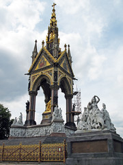 Prince Albert monument in Hyde park in London
