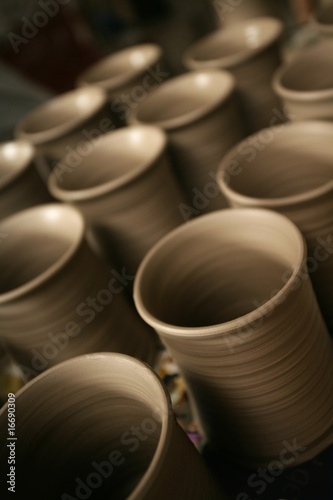 Rows of pottery