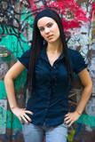 teen girl with dreadlocks poster