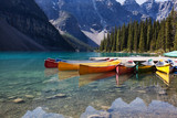 Naklejka Canoes on Moraine Lake