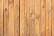 Wall covered with pine wooden boards
