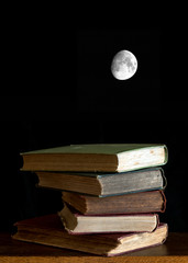 Books and Moon