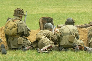 Soliders fighting on the front line