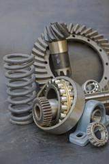 industrial spring, bearing, cogwheel
