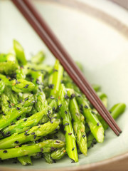 asian stir fried asparagus