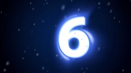 Countdown phrenetic blue