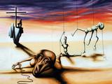 Graffiti Surreale Welt poster