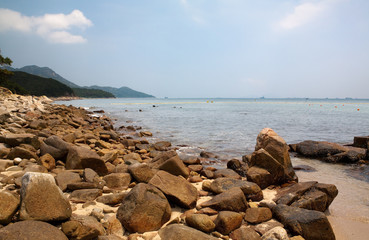 Rocks at Llama Island Beach Hong Kong