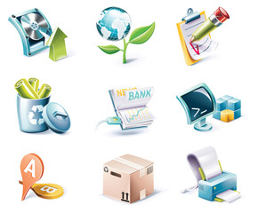 Vector cartoon style icon set. Part 6