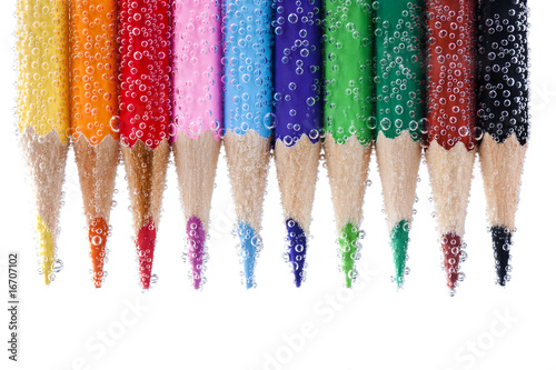 Pencils with bubbles