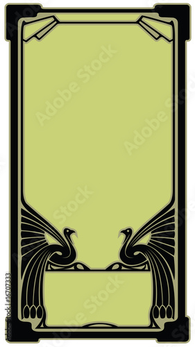 poster of Border with the bird in style art-nouveau