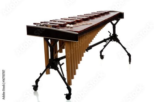 Leinwanddruck Bild Marimba on White