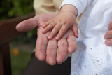 Grandparents and Grandchild, Hands 01 poster