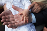 Grandparents and Grandchild, Hands 02 poster