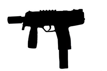 Maschinenpistole-Uzi-freigestellt
